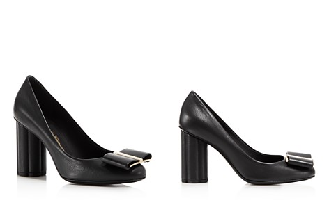 Salvatore Ferragamo Women's Leather Floral Heel Pumps - Bloomingdale's_2